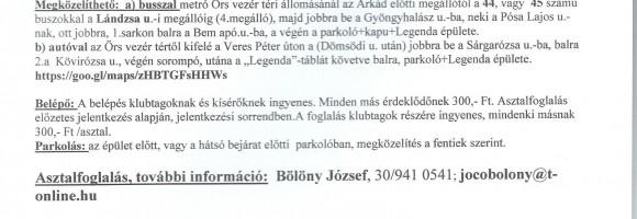 GYŰJTŐ TALÁLKOZÓ 2015.NOVEMBER 7.
